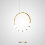 Подвесной светильник Access с шарообразными матовыми плафонами на кольцевом каркасе с LED-свечением