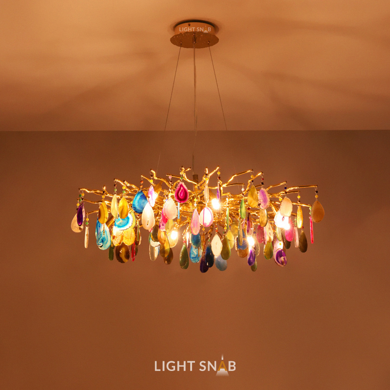Дизайнерская люстра Agate Color 8 ламп