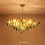 Дизайнерская люстра Agate Color 11 ламп