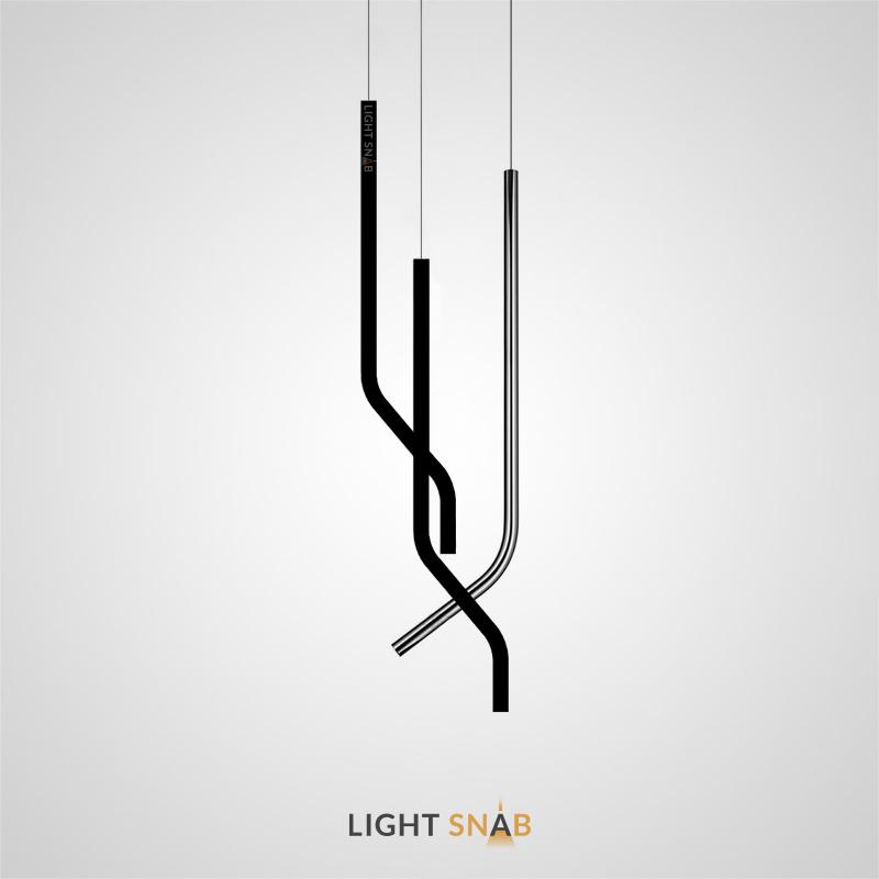Подвесной светодиодный светильник Aia с изогнутым трубчатыми корпусом