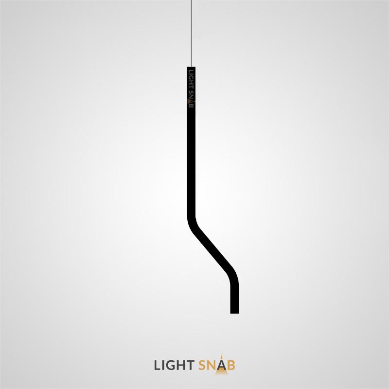 Подвесной светодиодный светильник Aia тип B. Цвет матовый черный