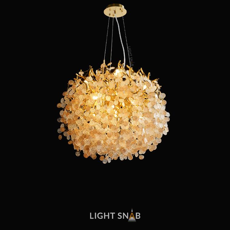 Люстра Aisling 13 ламп. Модель A. Подвески глянцевые