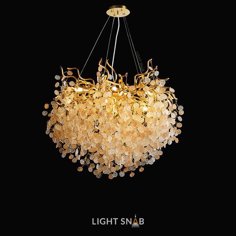 Люстра Aisling 13 ламп. Модель B. Подвески глянцевые