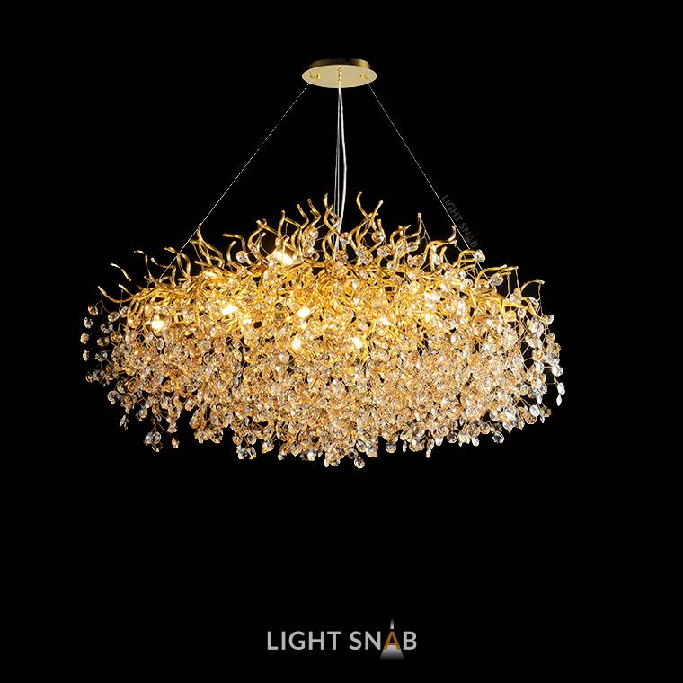 Люстра Aisling 15 ламп. Модель C. Подвески матовые