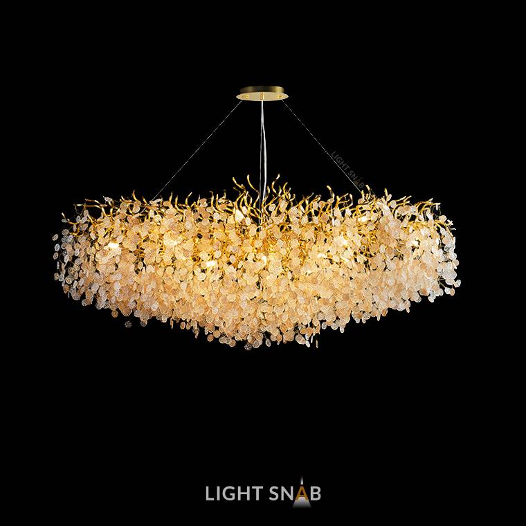 Люстра Aisling 17 ламп. Модель D. Подвески глянцевые