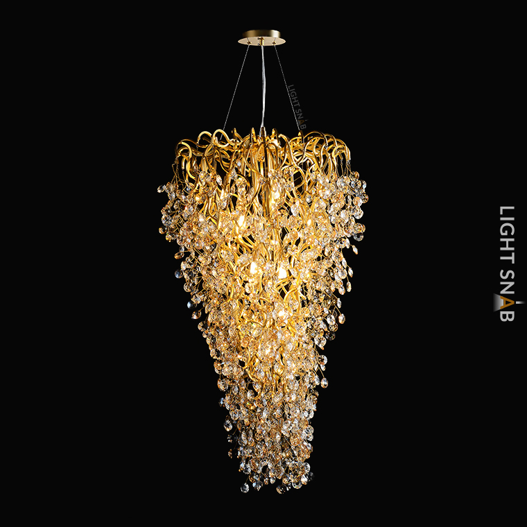 Люстра Aisling 12 ламп. Модель E. Подвески матовые