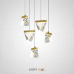 Подвесной светодиодный светильник Aldis в виде хрустального кристалла