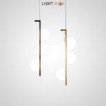 Подвесной светодиодный светильник Arcanum с тремя белыми матовыми плафонами округлой формы