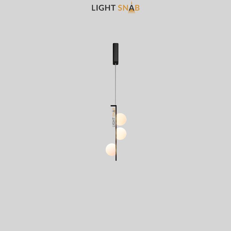 Подвесной светодиодный светильник Arcanum цвет черный