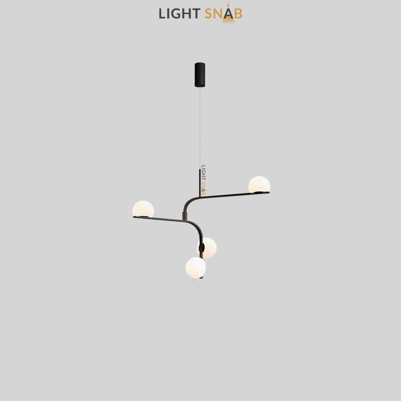 Дизайнерский подвесной светодиодный светильник Arcanum Angle цвет черный