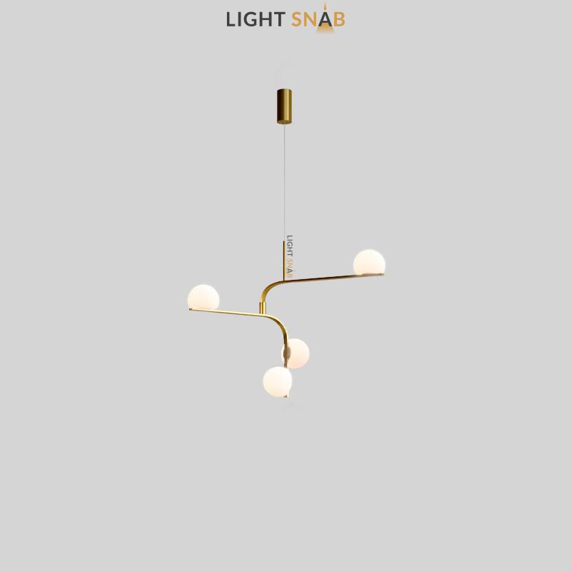 Дизайнерский подвесной светодиодный светильник Arcanum Angle цвет латунь