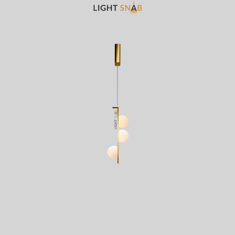 Подвесной светодиодный светильник Arcanum цвет латунь