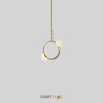 Подвесной светильник Arcanum Ring 2 лампы цвет латунь