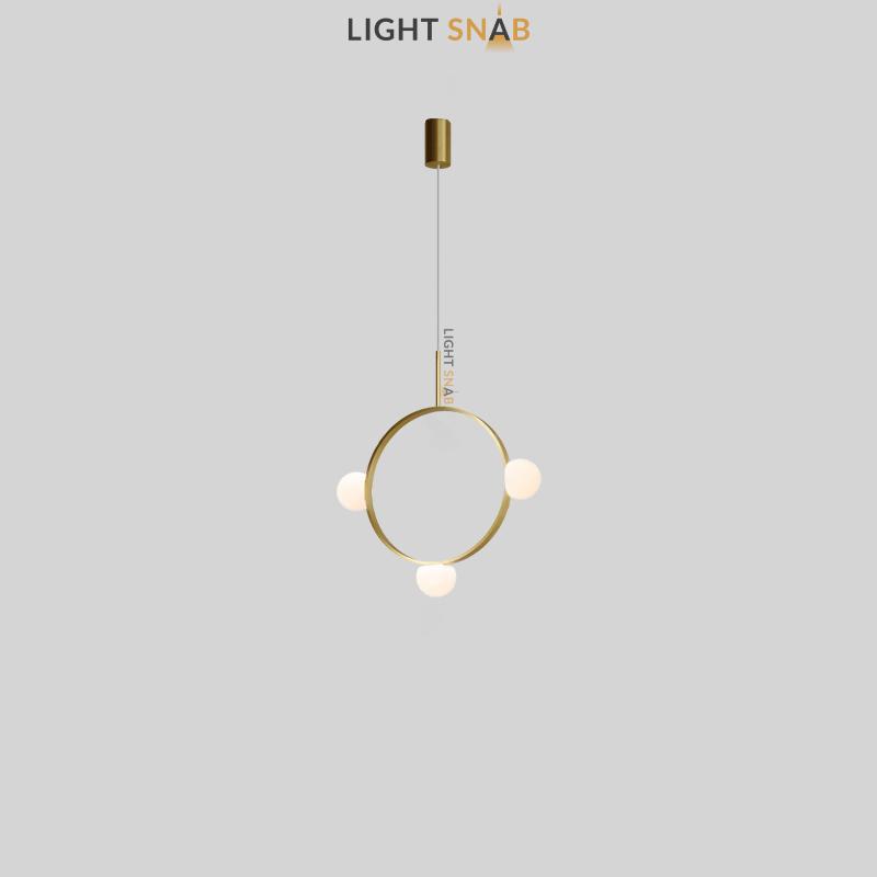 Подвесной светильник Arcanum Ring 3 лампы цвет латунь