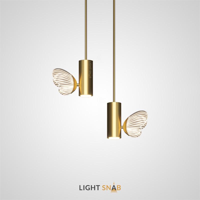 Дизайнерский светильник Babetta с цилиндрическим плафоном и декоративной бабочкой со светящимися крыльями