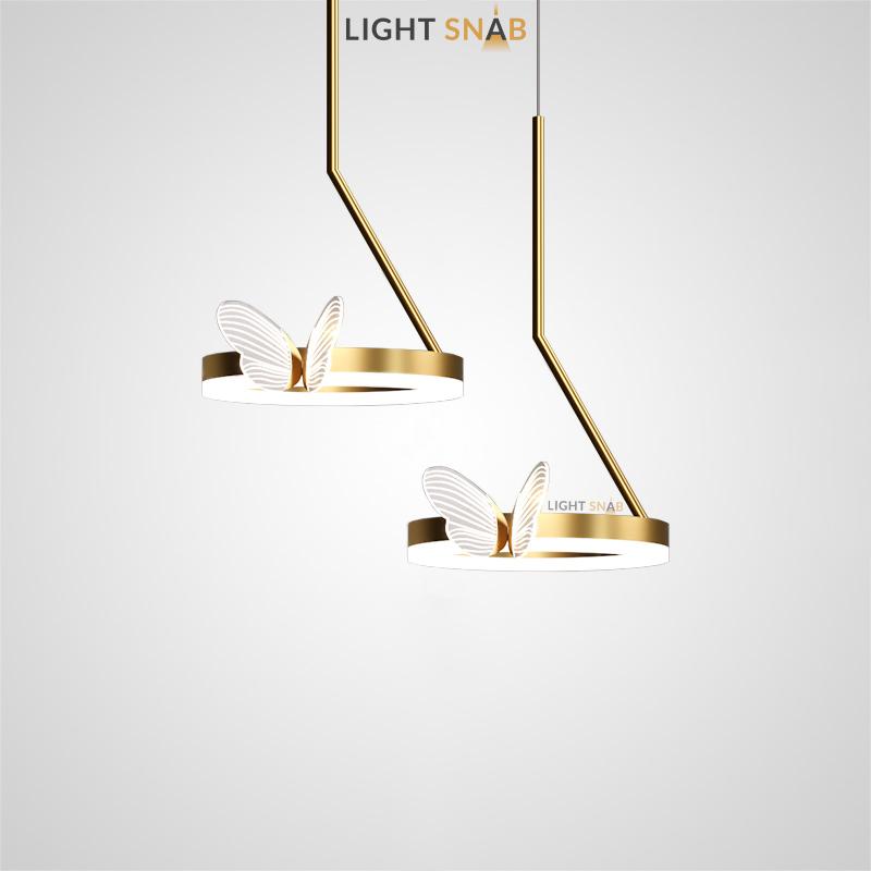 Подвесной светильник Babetta B с декоративными светящимися бабочками на кольцевом каркасе с LED-свечением