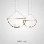 Подвесной светильник Babetta Duo с декоративными светящимися бабочками на округлой металлической рамке