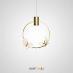 Подвесной светильник Babetta Ring с декоративными светящимися бабочками на кольцевом каркасе с LED-свечением