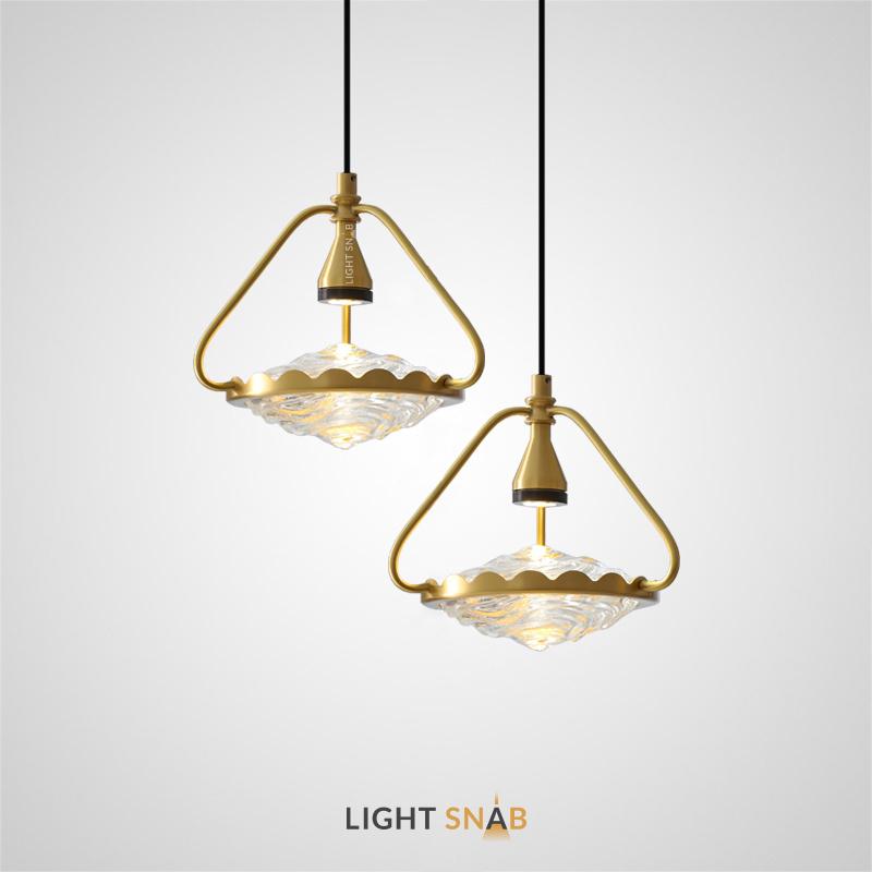 Светодиодный подвесной светильник Bliss с точечным источником света и каплевидным рассеивателем из рельефного хрусталя