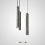 Подвесной светильник Brut с цементным плафоном цилиндрической формы