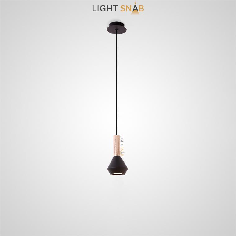 Подвесной светильник Bulb модель A цвет черный