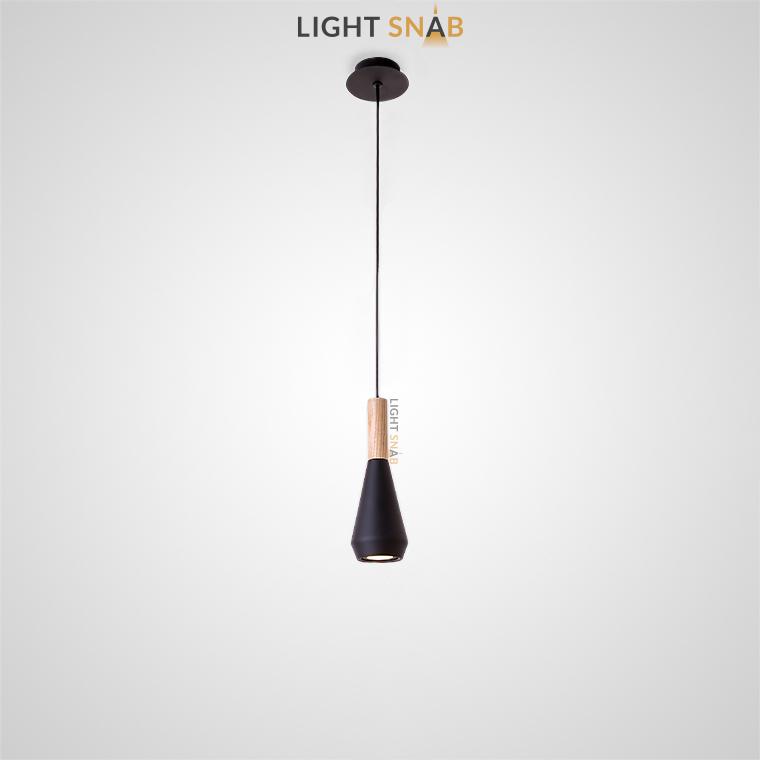 Подвесной светильник Bulb модель B цвет черный