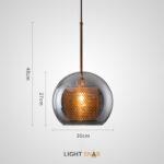 Подвесной светильник Catch Smoky модель A размер L