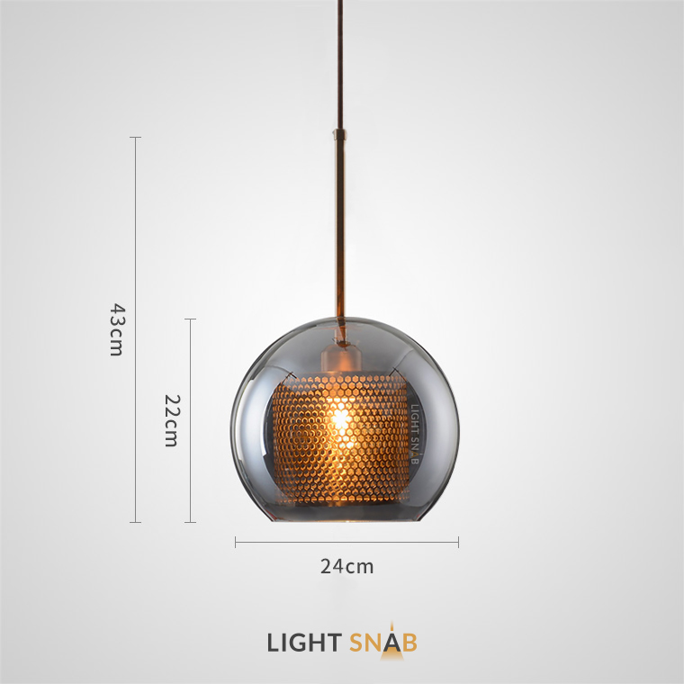 Подвесной светильник Catch Smoky модель A размер M
