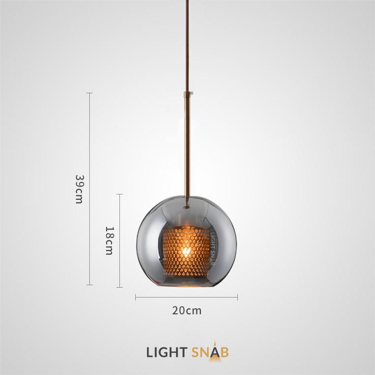 Подвесной светильник Catch Smoky модель A размер S