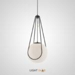 Подвесной светильник Chasil One с шарообразным стеклянным матовым плафоном на оригинальном креплении