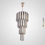 Люстра Compar Cas с каскадным абажуром из свободно свисающих декоративных элементов из натурального хрусталя