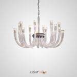 Дизайнерская люстра Concord со стеклянными выгнутыми плафонами вытянутой цилиндрической формы