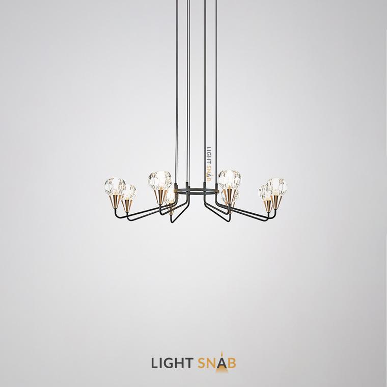 Люстра Creil 8 ламп. Цвет черный