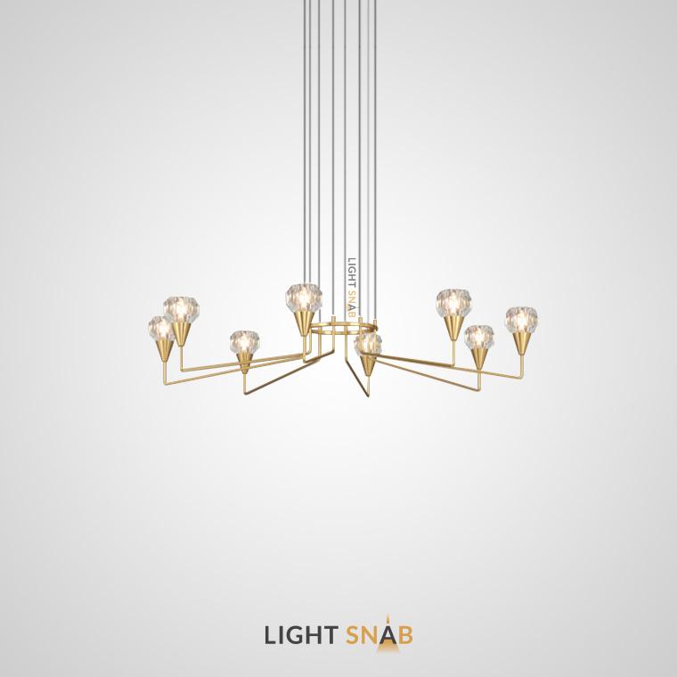 Люстра Creil 8 ламп. Цвет латунь