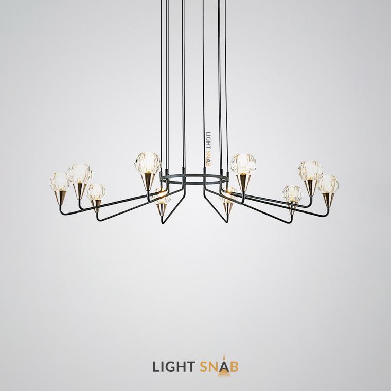 Люстра Creil 10 ламп. Цвет черный