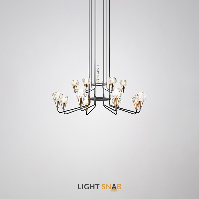 Люстра Creil 12 ламп. Цвет черный