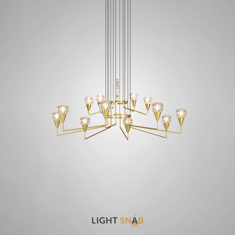 Люстра Creil 12 ламп. Цвет латунь
