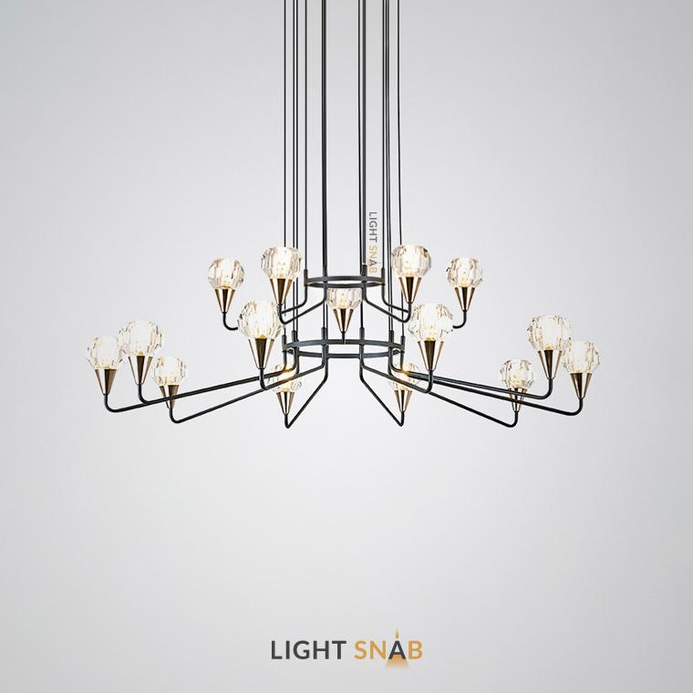 Люстра Creil 15 ламп. Цвет черный