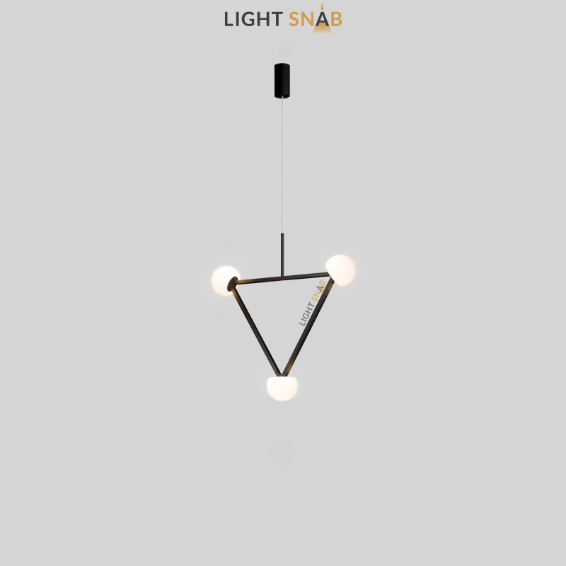 Подвесной светильник Duchess 3 лампы черный цвет трехцветный свет