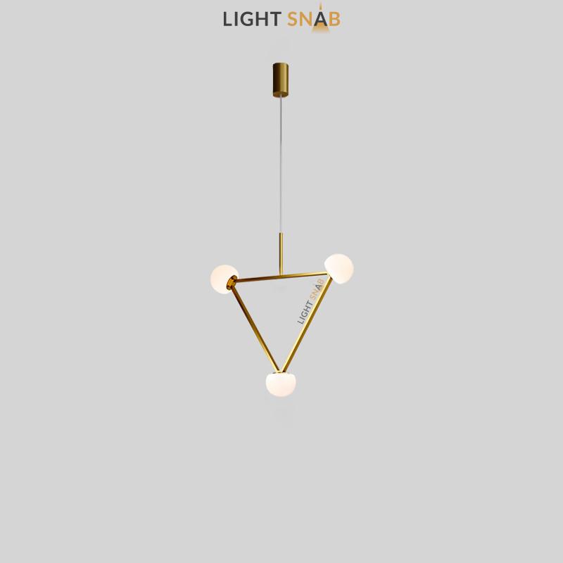 Подвесной светильник Duchess 3 лампы цвет латунь трехцветный свет