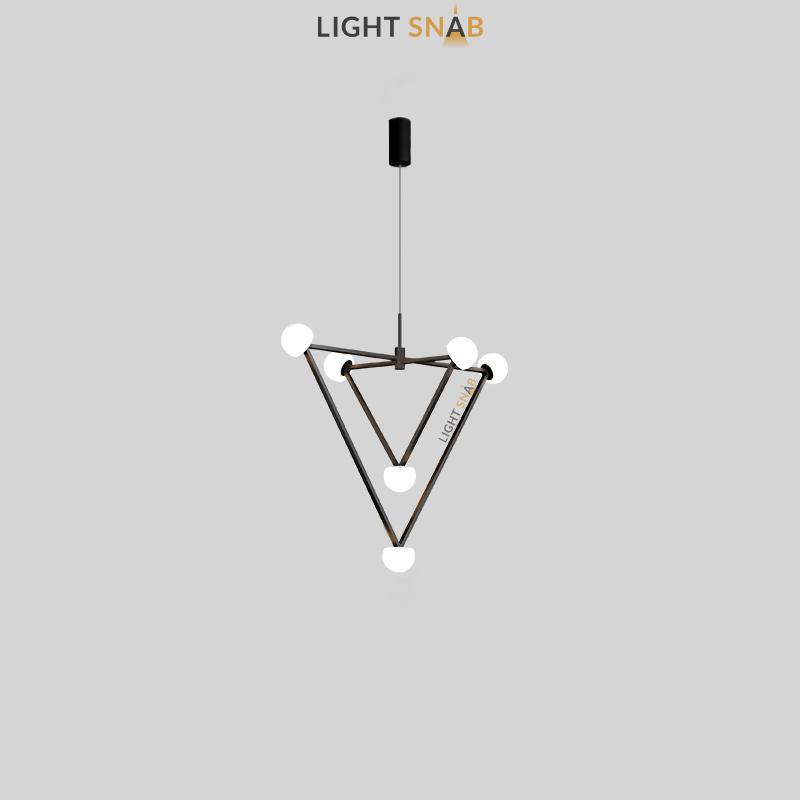 Подвесной светильник Duchess 6 ламп черный цвет белый свет