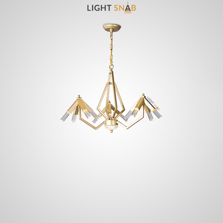 Дизайнерская люстра Elton 12 ламп (3 рожка)