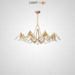 Дизайнерская люстра Elton 32 лампы (8 рожков)