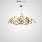 Дизайнерская люстра Elton 48 ламп (12 рожков)