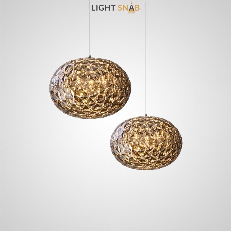 Дизайнерский подвесной светильник Filomena с многогранным плафоном шарообразной формы
