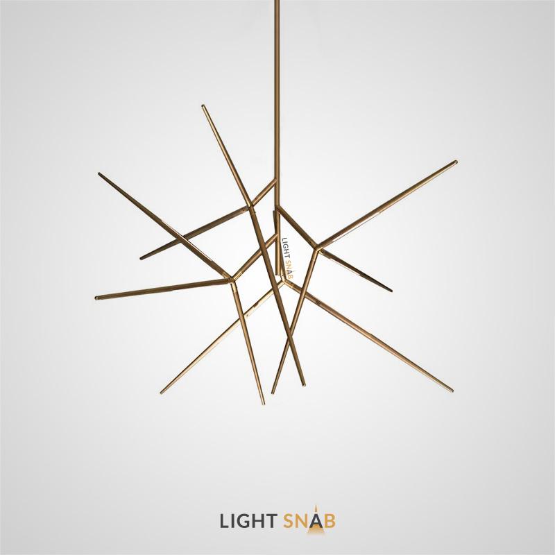 Дизайнерская светодиодная люстра Flask с корпусом в форме шипа