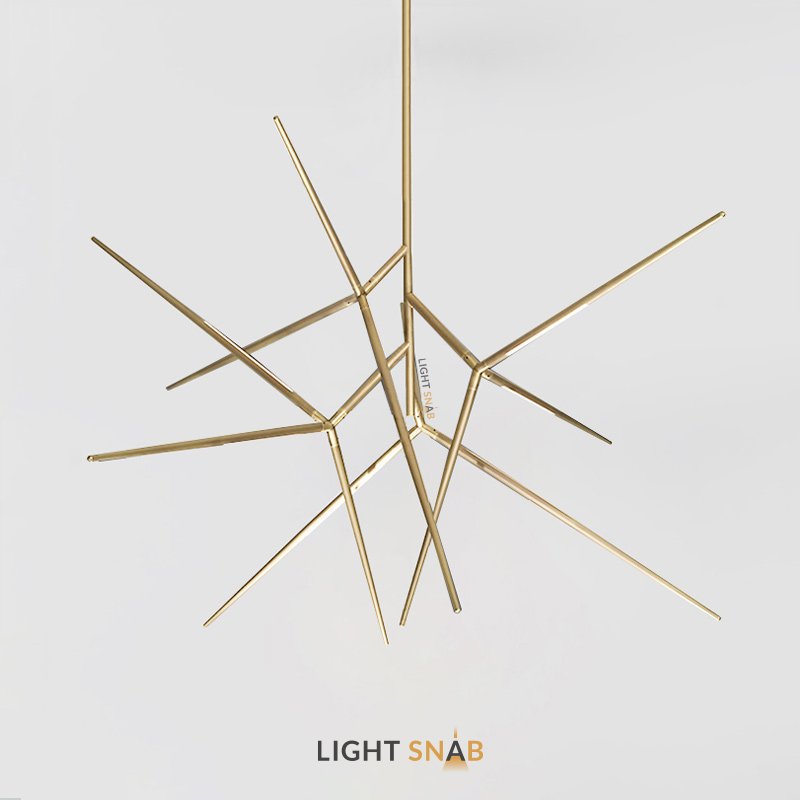 Дизайнерская светодиодная люстра Flask цвет латунь