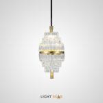 Дизайнерский подвесной светильник Floral с рельефным плафоном из стекла эллиптической формы