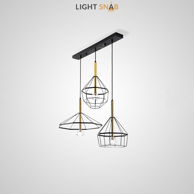 Подвесной светильник Format модель E (3 светильника на планке)