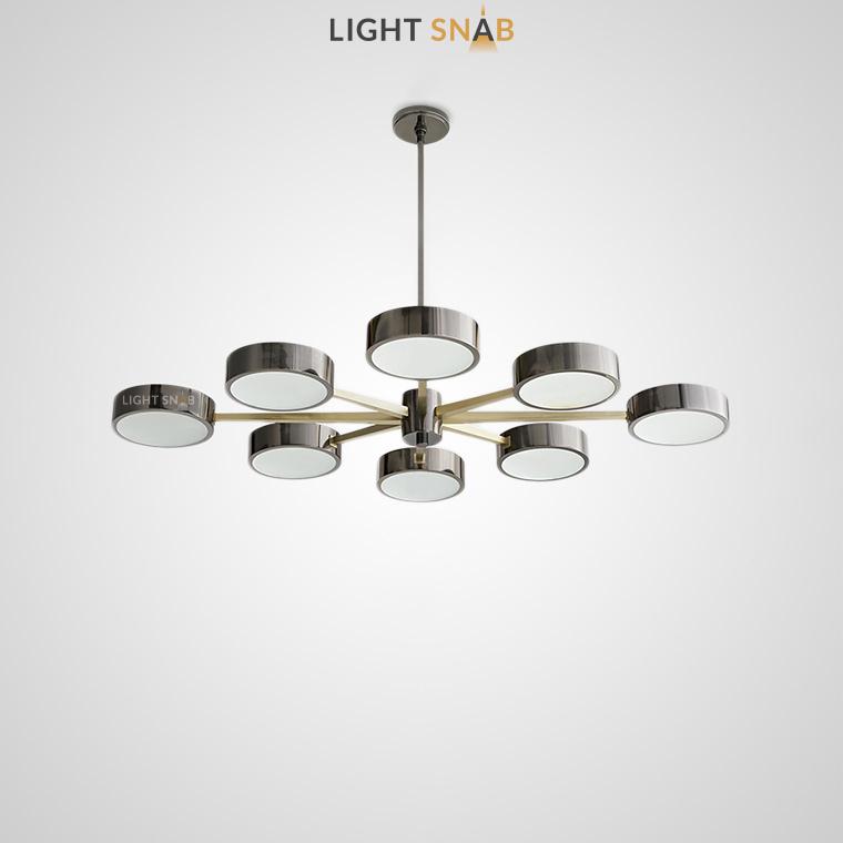 Люстра Friend в двух цветовых решениях с LED источником освещения
